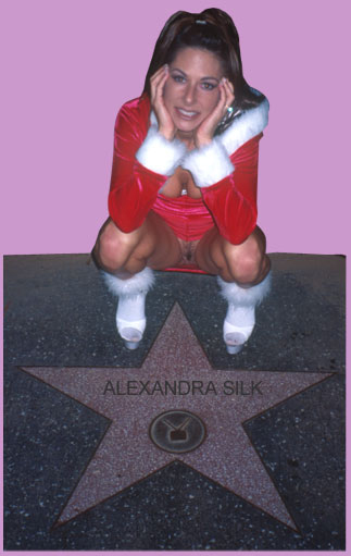 Alexandra Silk's star on the walk of fame