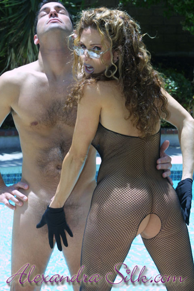 Alexandra Silk & her pool boy